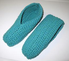 Pantoufles toutes simples au crochet