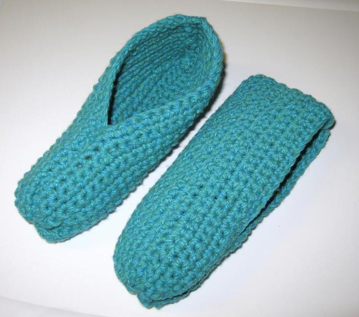 Pantoufles simples au crochet