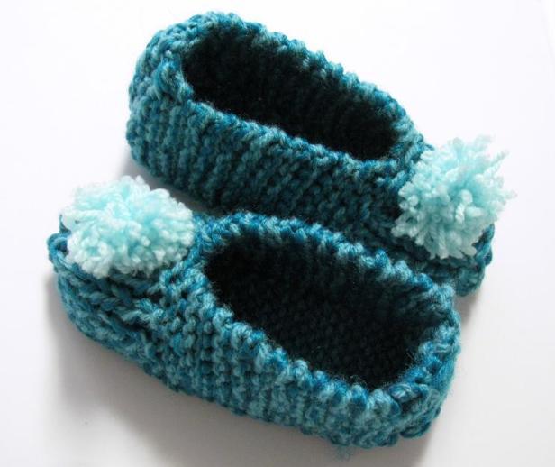 Pantoufles au tricot pour enfant