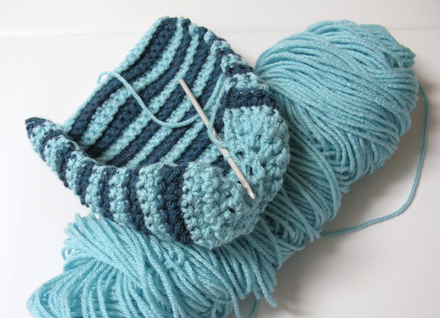 patron pantoufle crochet gratuit