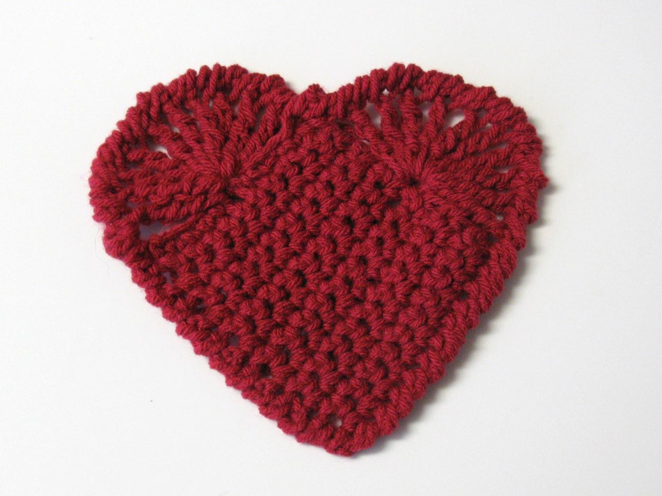 Coeur au crochet 3 petites mailles - 3 petites mailles ...
