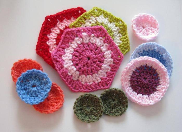 Hexagone à deux couleurs