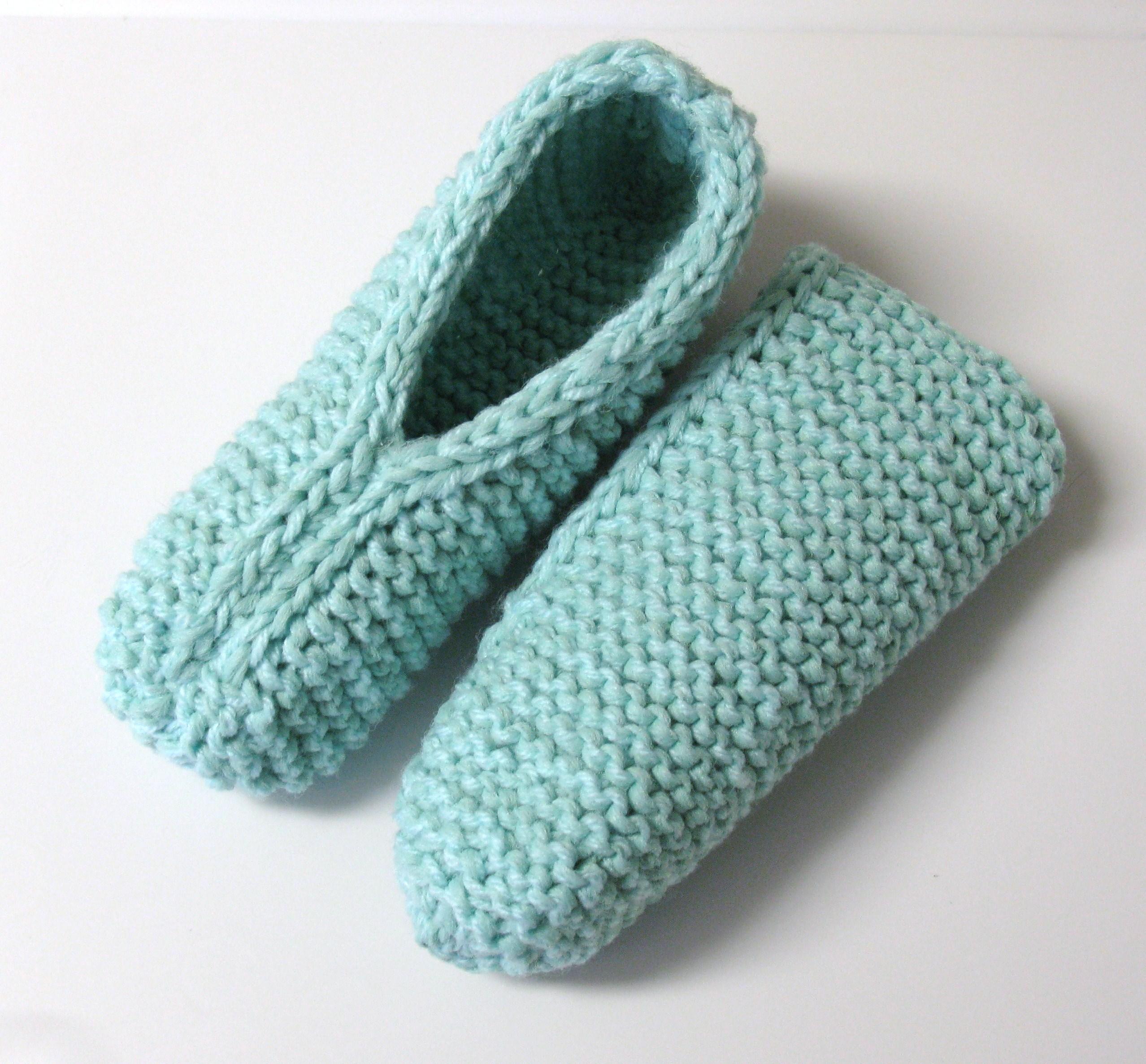Pantoufles petite douceur au tricot 3 petites mailles - 3 petites mailles ...