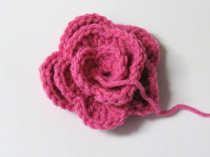Rose au crochet1
