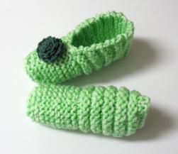 Pantoufles vert menthepour enfants et adultes − GRATUIT