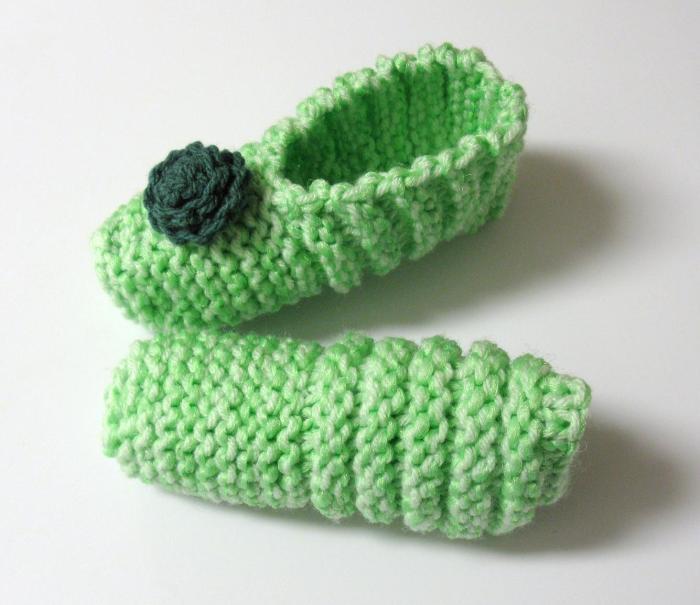 Pantoufles vert menthe