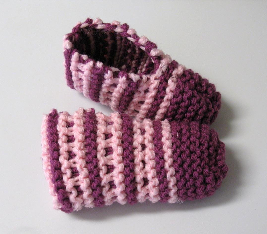 comment tricoter pantoufles laine