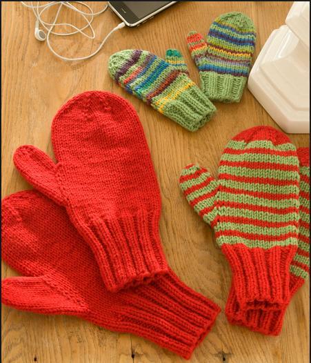 Hervorragend 1001 mitaines au tricot – enfants et adultes | 3 petites mailles FE75
