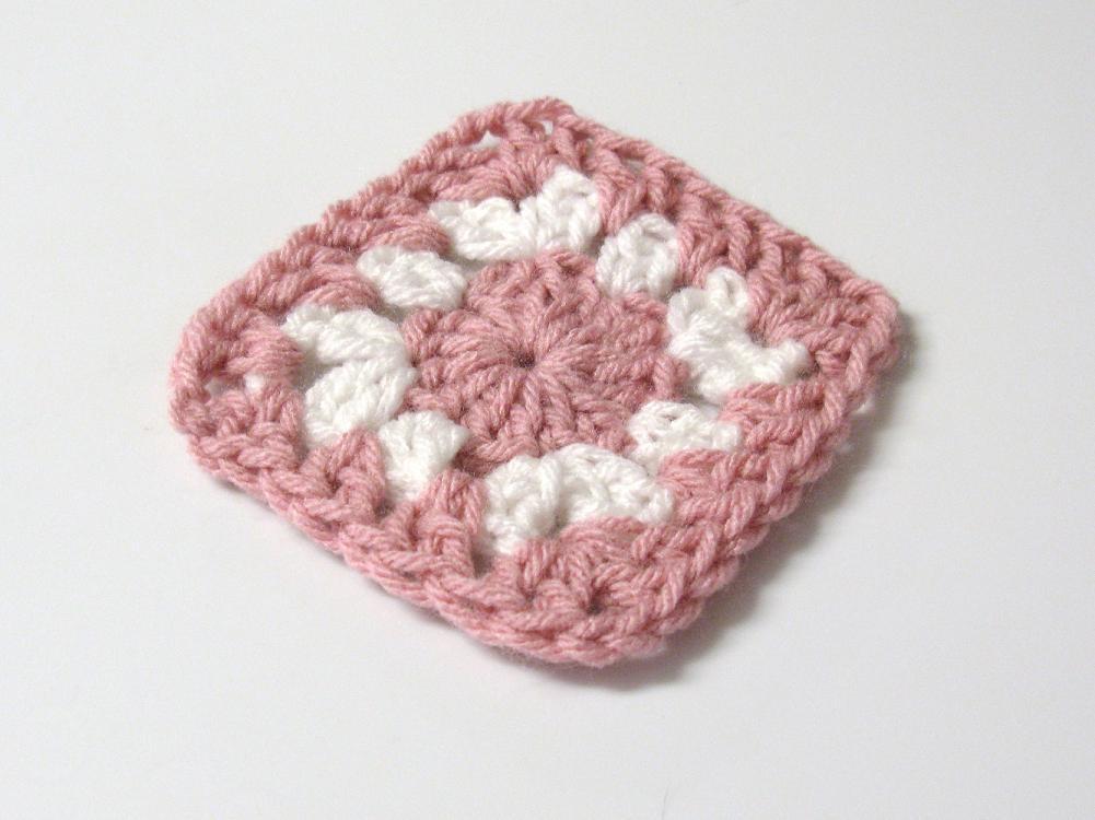 Carr s au crochet 3 petites mailles - Maille coulee au crochet ...