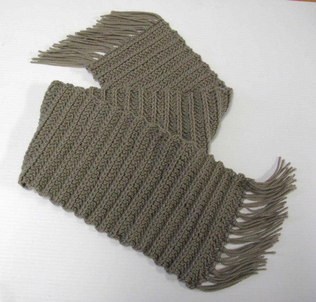 modèle tricot foulard