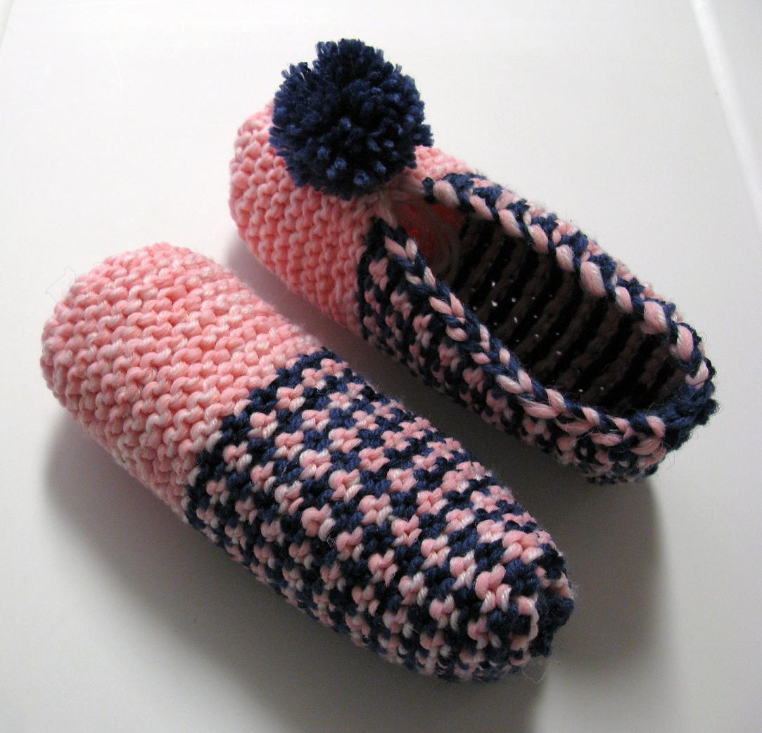 apprendre a tricoter des pantoufles en phentex