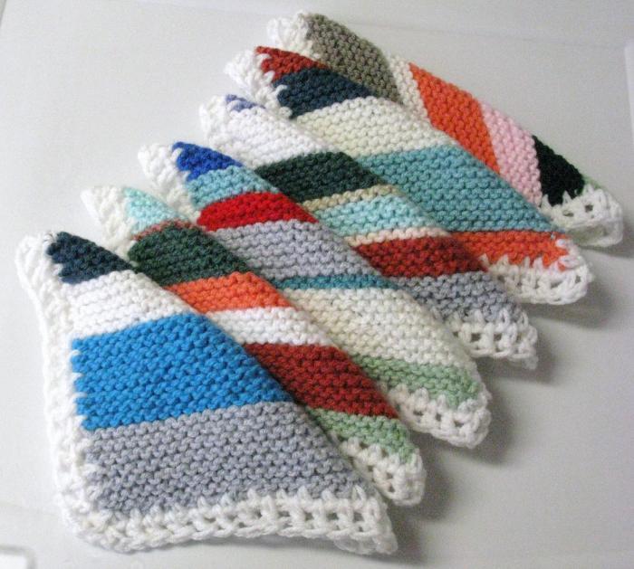 Carrés magiques au tricot
