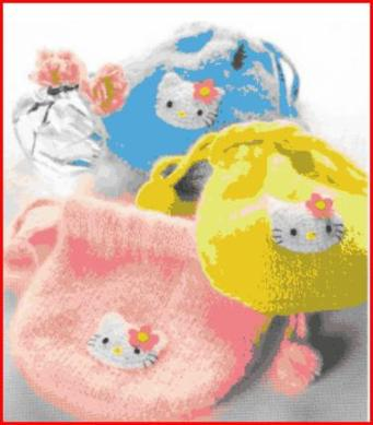Bourse tricot Kitty