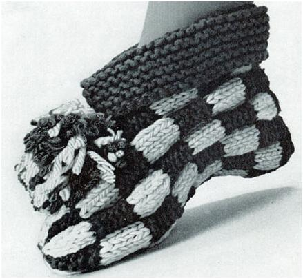 Let's Play Checkers Cuff Slipper Pattern