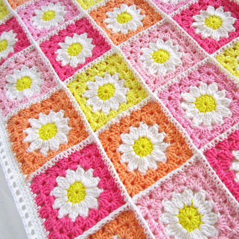 Fleur Granny 3 Petites Mailles