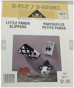 Pantoufles petit panda