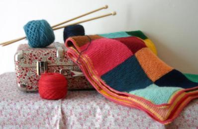 Carrés au tricot