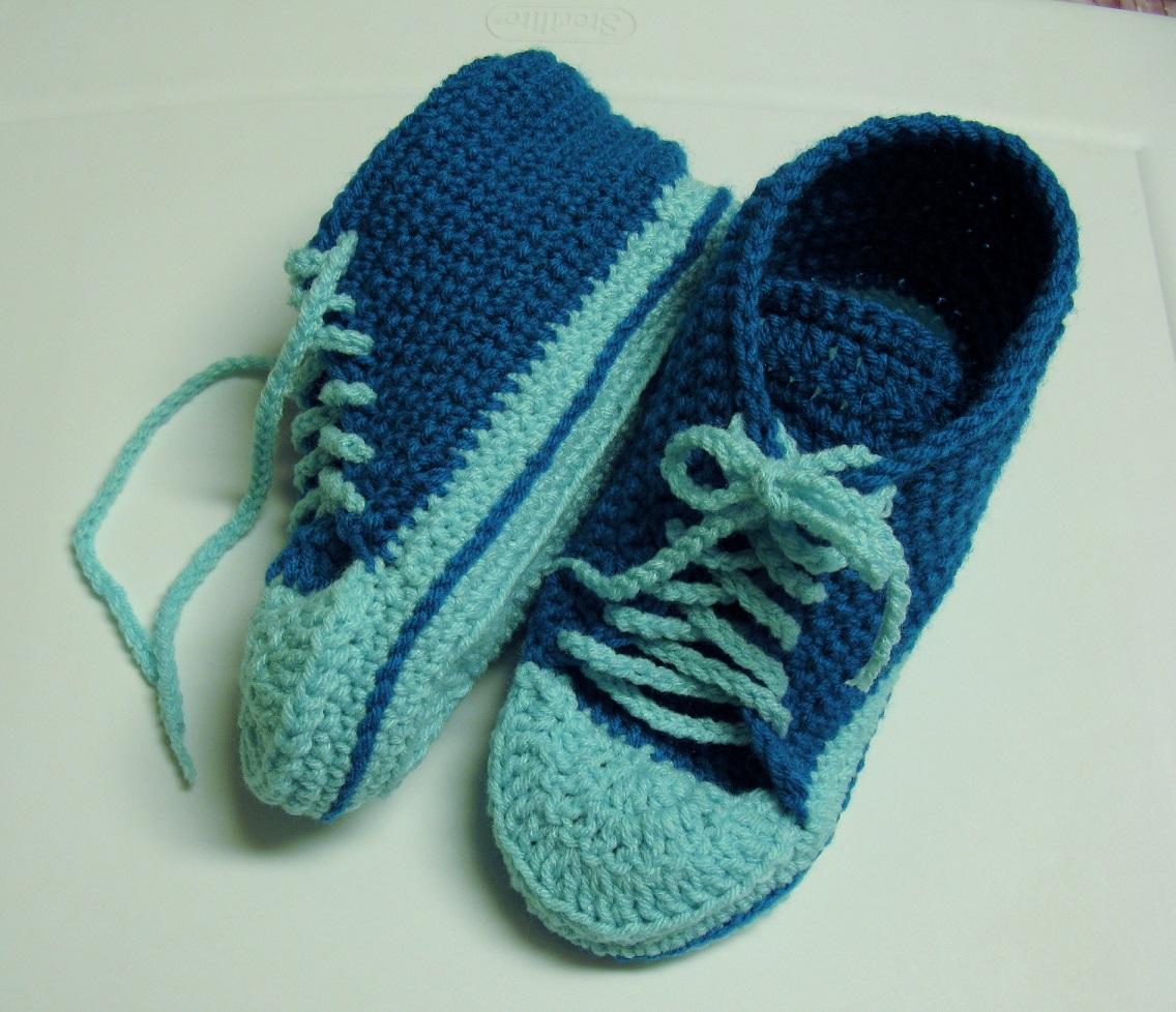 patron tricot pantoufle crochet