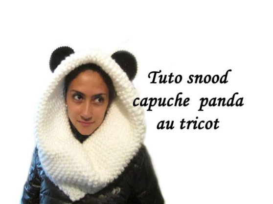 Snood capuche panda