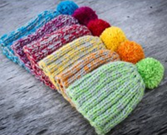 bonnets au tricot
