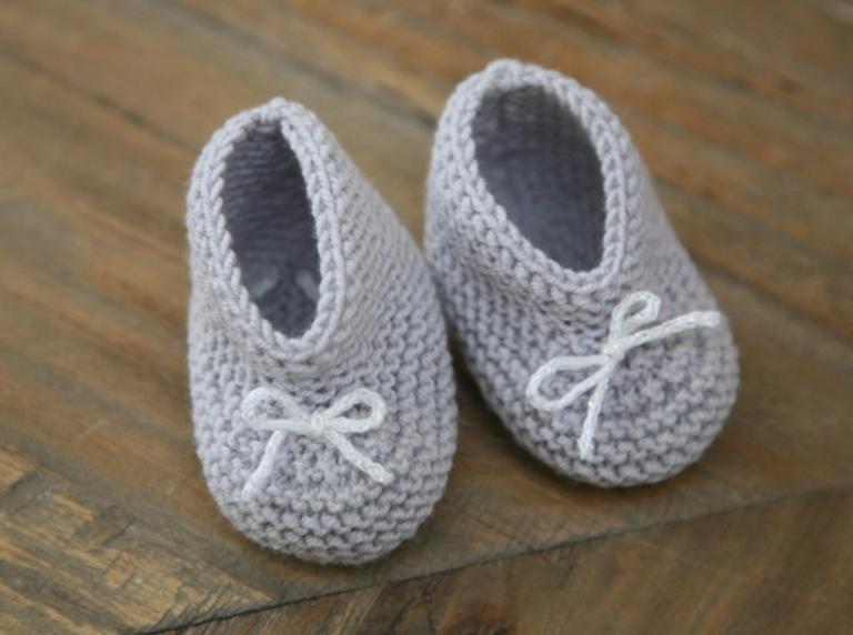 Des petits chaussons 3 petites mailles - 3 petites mailles ...