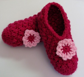 Pantoufles point soufflé zig zag / Zigzag Puff Stitch Slippers