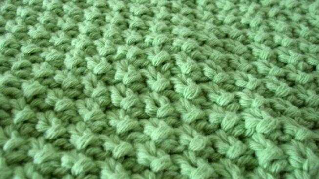 point de riz au tricot