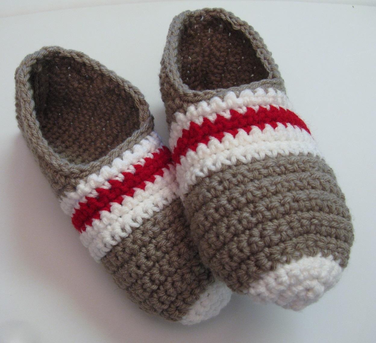 Pantoufles bas de laine au crochet pour femme bfe1cf51def