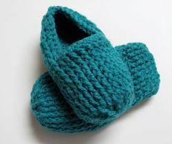 Pantoufles à côtes au crochet pour femmes / Women's Crochet Ribbed Slippers