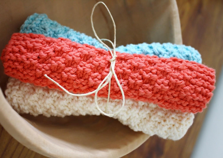 Lavette tricot point de ble 3 petites mailles - Point de ble au tricot ...