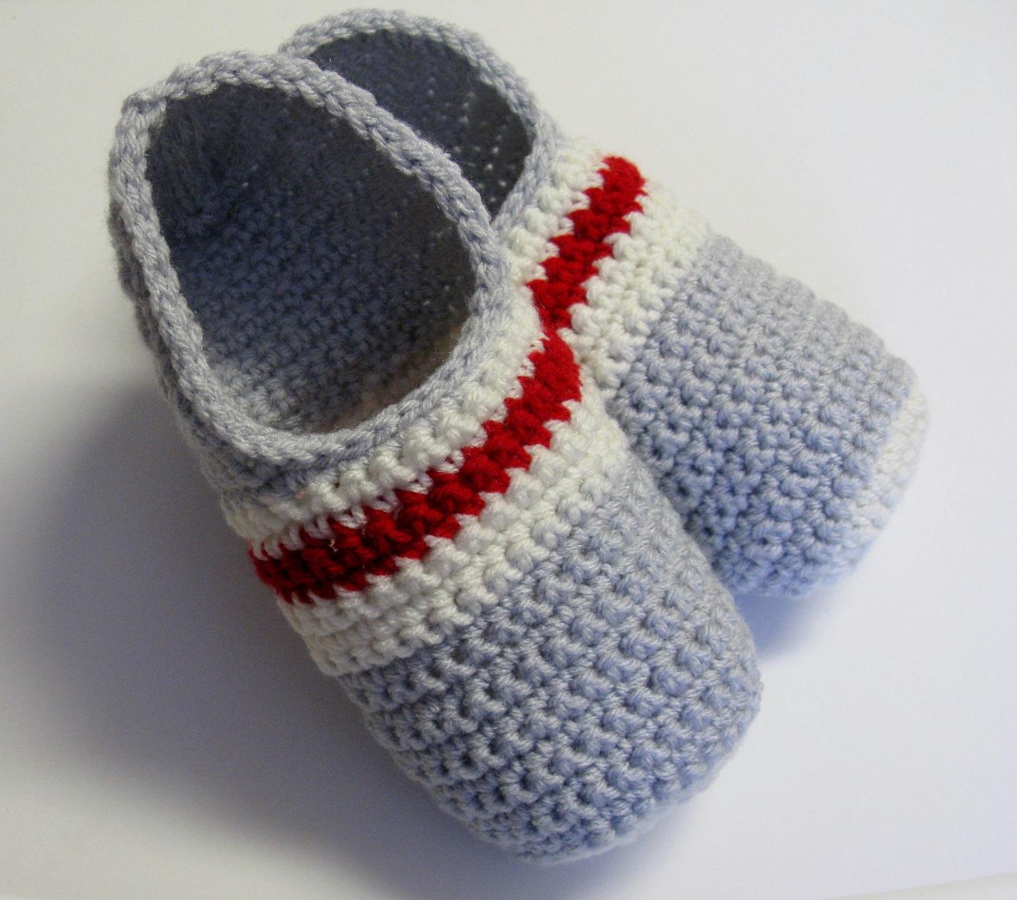 Pantoufleshommes bas de laine au crochet