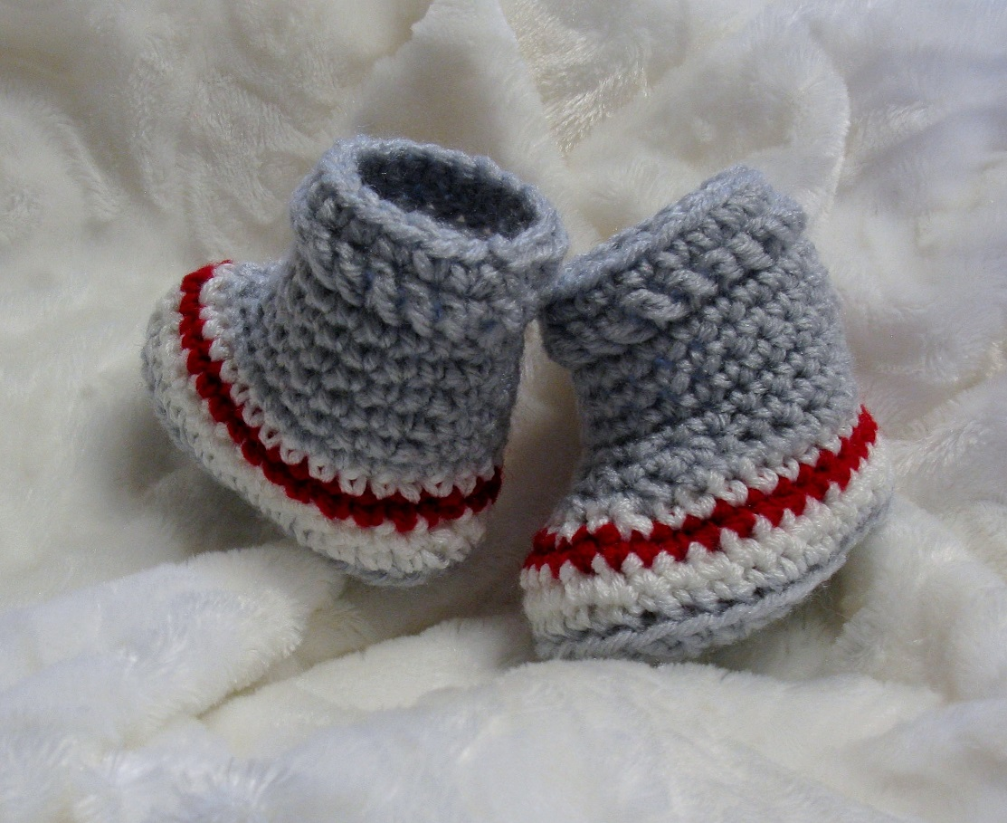 Chaussons de bébé style bas de laine