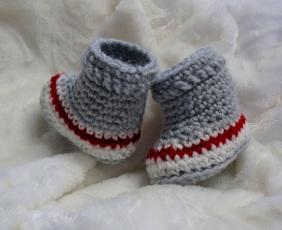 Chaussons de style bas de laine pour bébés