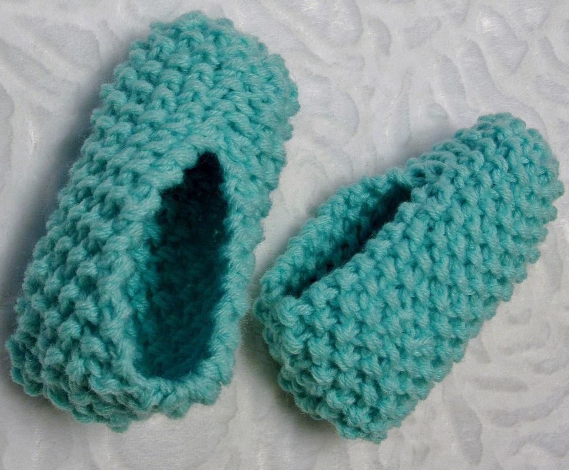 Pantoufles au tricot pour enfants 1 à 12 ans