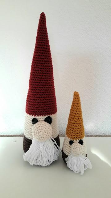 Lutin crochet tuto drops gnome Noël