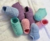 Pantoufles à côtes pour les enfants de 2 à 10 ans