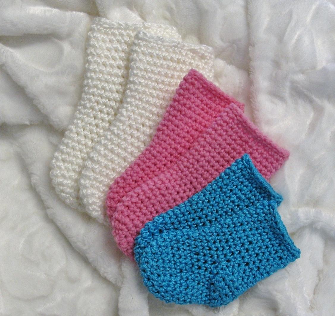 Chaussettes au crochet pour bébés 0-12 mois