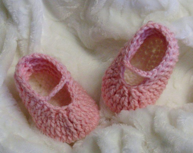 Ballerines au crochet pour bébés 0 à 12 mois