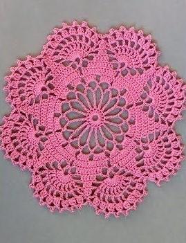 Napperon facile, un modèle de Allô crochet (3 petites mailles). Un petit clic sur l'image vous conduira vers les explications.