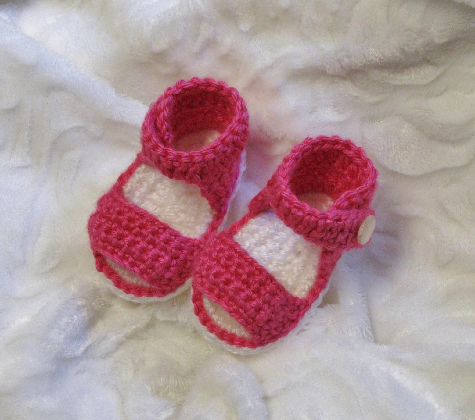 Sandales au crochet pour bébés 0 à 12 mois