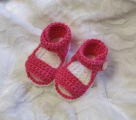 Sandales au crochet pour bébés de 0 à 12 mois
