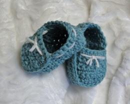 Chaussons de style marin pour bébés