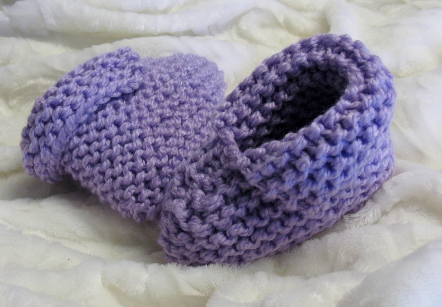Pantoufles à revers tricot enfants 4-12 ans
