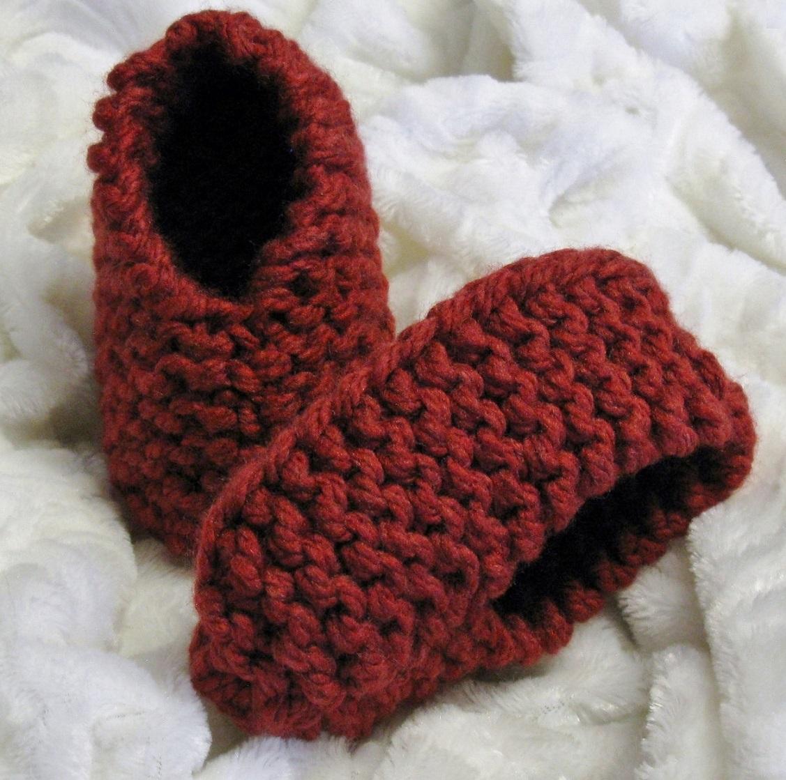 Pantoufles tricot enfants 2-12 ans